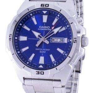 카시오 조명 아날로그 석 영 MTP-E203D-2AV MTPE203D-2AV 남자 시계