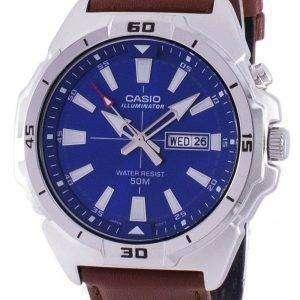 카시오 조명 아날로그 석 영 MTP-E203L-2AV MTPE203L-2AV 남자 시계
