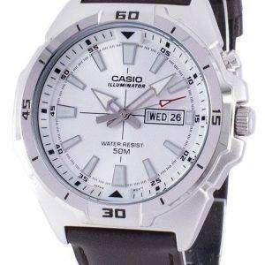 카시오 조명 아날로그 석 영 MTP-E203L-7AV MTPE203L-7AV 남자 시계