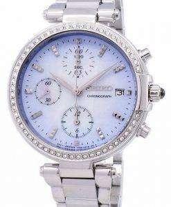 세이 코 크로 노 그래프 쿼 츠 다이아몬드 악센트 SNDV39 SNDV39P1 SNDV39P 여자의 시계