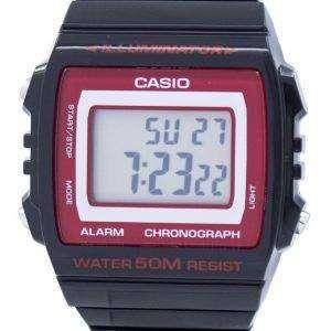 카시오 조명 기 크로 노 그래프 알람 디지털 W-215 H-1A2VDF W215H-1A2VDF Unisex 시계