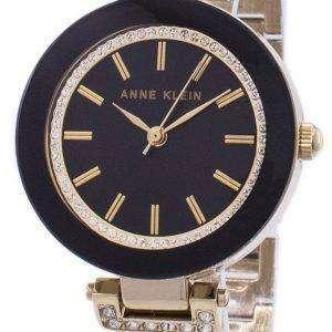 앤 클라인 쿼 츠 다이아몬드 악센트 1906BKGB 여자의 시계