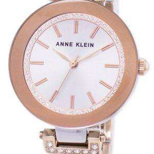 앤 클라인 쿼 츠 다이아몬드 악센트 1907SVRT 여자의 시계