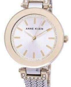 앤 클라인 쿼 츠 다이아몬드 악센트 1907SVTT 여자의 시계