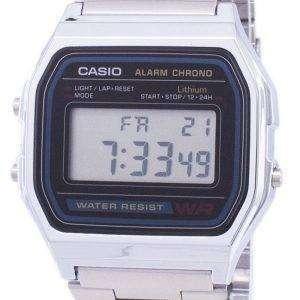 카시오 디지털 스테인리스 일일 알람 A158WA 1DF A158WA-1 남자의 시계