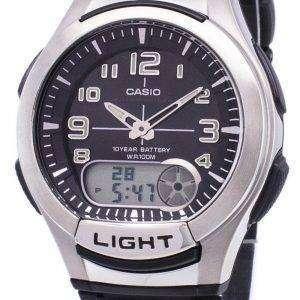 카시오 아날로그 디지털 조명 Telememo AQ-180W-1BVDF AQ-180W-1BV 남자 시계