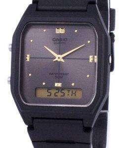 카시오 아날로그 디지털 석 영 듀얼 타임 AW-48HE-8AVDF AW-48HE-8AV 남자 시계