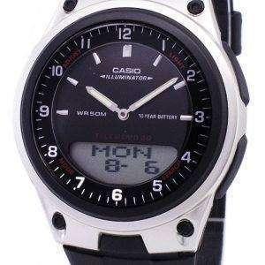 카시오 아날로그 디지털 Telememo 조명 AW-80-1AVDF AW-80-1AV 남자 시계