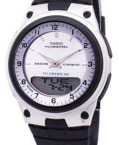 카시오 아날로그 디지털 Telememo 조명 AW-80-7AVDF AW-80-7AV 남자 시계