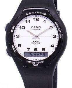 카시오 아날로그 디지털 듀얼 타임 AW-90 H-7BVDF AW-90 H-7BV 남자의 시계