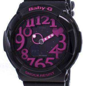 건반 베이비-G 네온 조명 아날로그-디지털 BGA-130-1B 여자 시계