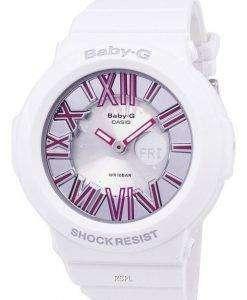 건반 베이비-G 네온 조명 기 BGA-160-7B2DR 여자 시계