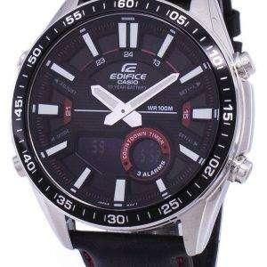 건반 건물 알람 아날로그 디지털 석 영 EFVC100L-1AV EFV-C100L-1AV 남자 시계