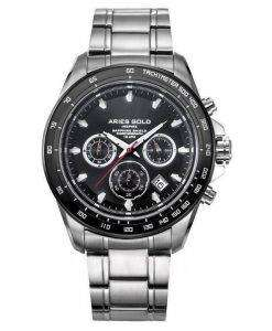 양자리 골드 영감 방 랑 자 크로 노 그래프 쿼 츠 G 7001 SBK-보 리 남자의 시계