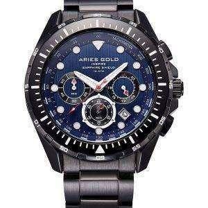 양자리 골드 영감 대서양 크로 노 그래프 쿼 츠 G 7002 BK 부 남자 시계