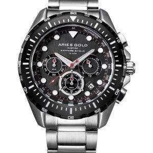 양자리 골드 영감 대서양 크로 노 그래프 쿼 츠 G 7002 SBK-보 리 남자 시계