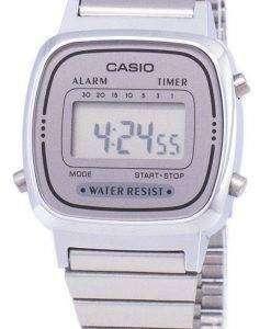 카시오 디지털 스테인리스 알람 타이머 LA670WA 7DF LA670WA-7 여자의 시계