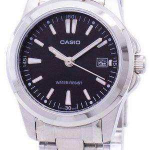 카시오 아날로그 쿼 츠 블랙 다이얼 LTP-1215A-1A2DF LTP-1215A-1A2 여자 시계
