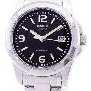 카시오 아날로그 쿼 츠 블랙 다이얼 LTP-1215A-1ADF LTP-1215A-1A 여자 시계