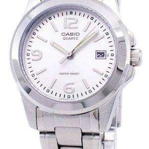 카시오 아날로그 쿼 츠 화이트 다이얼 LTP-1215A-7ADF LTP-1215A-7A 여자 시계