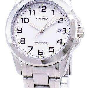 카시오 아날로그 쿼 츠 화이트 다이얼 LTP-1215A-7B2DF LTP-1215A-7B2 여자 시계