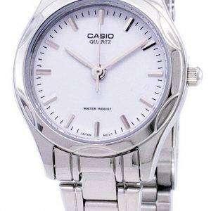 카시오 아날로그 쿼 츠 화이트 다이얼 LTP-1275 D-7ADF LTP-1275 D-7A 여자 시계