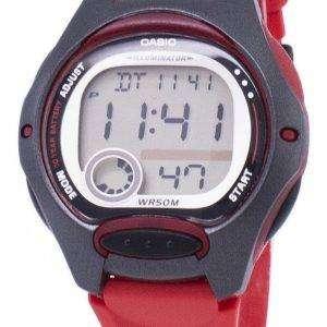 카시오 디지털 스포츠 조명 LW-200-4AVDF 여자의 시계