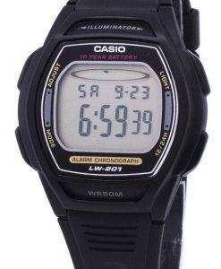 카시오 디지털 알람 크로 노 조명 LW-201-1AVDF 여자 시계