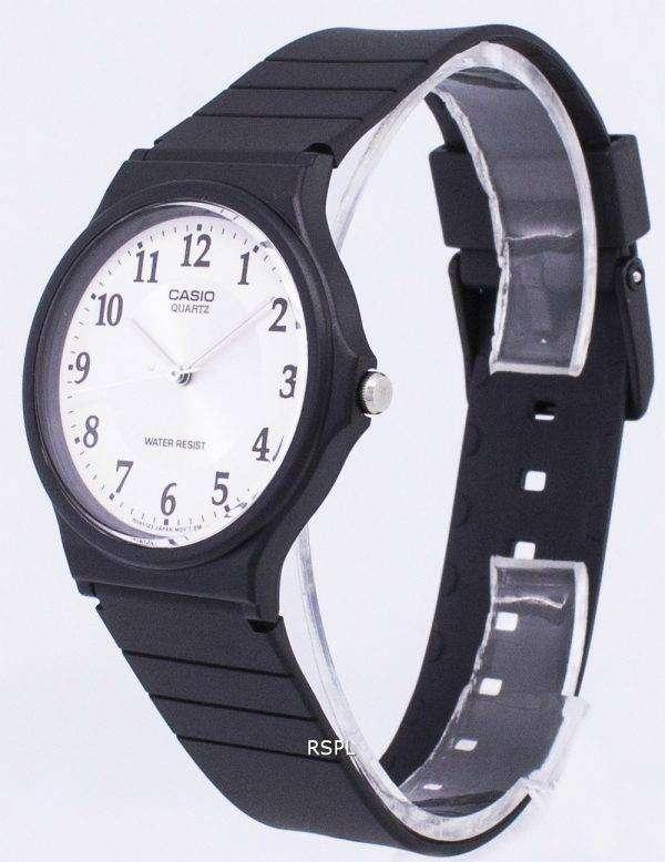카시오 석 영 아날로그 화이트 다이얼 MQ-24-7B3LDF MQ-24-7B3L 남자의 시계