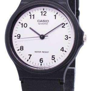 카시오 클래식 아날로그 쿼 츠 화이트 다이얼 MQ-24-7BLDF MQ-24-7BL 남자 시계