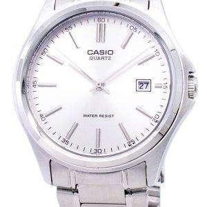 카시오 석 영 아날로그 스테인레스 스틸 실버 다이얼 MTP-1183A-7ADF MTP-1183A-7A 남자 시계