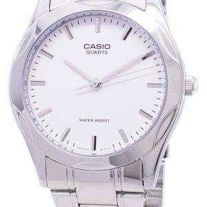 카시오 석 영 아날로그 화이트 다이얼 MTP-1275 D-7ADF MTP-1275 D-7A 남자 시계