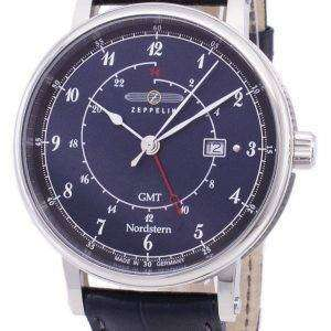 제 플 린 시리즈 Nordstern GMT 독일 만든 7546-3 75463 남자의 시계