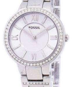 화석 버지니아 3-손 크리스탈 ES3282 여자의 시계