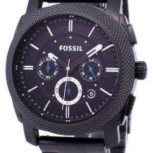 화석 기계 크로 노 그래프 블랙 IP 스테인리스 FS4552 남자 시계