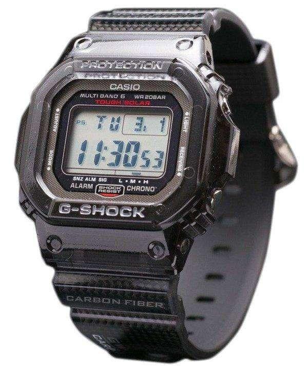 건반 g 조 충격 GW-S5600-1JF 탄소 섬유 밴드 삽입 멀티 밴드 6 한정판 시계