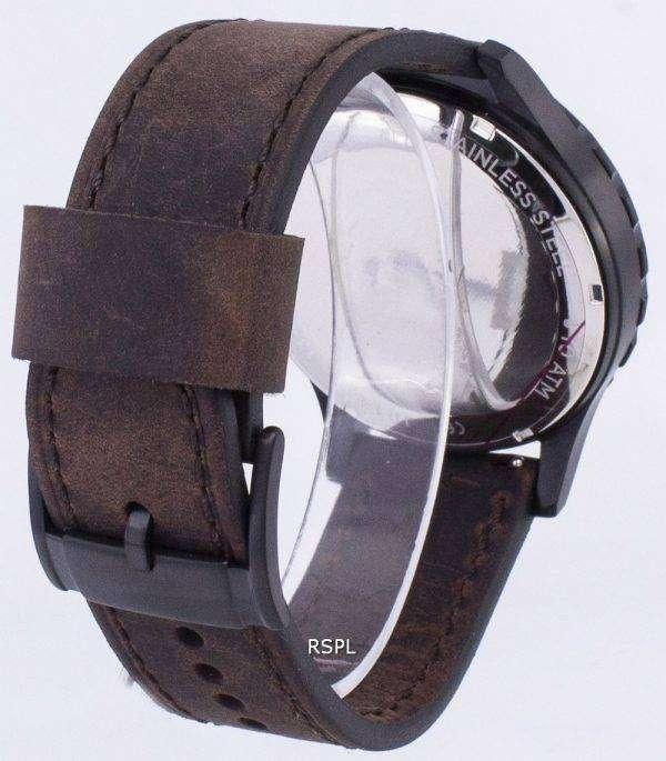 화석 네이트 크로 노 그래프 가죽 브라운 JR1487 남자의 시계