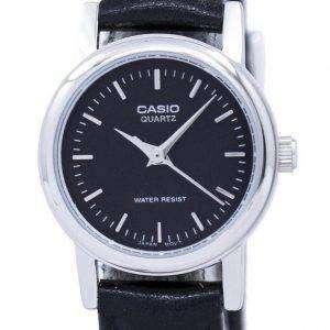 카시오 석 영 아날로그 블랙 다이얼 LTP-1095E-1ADF LTP-1095E-1A 여자 시계