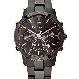 Trussardi T-스타일 크로 노 그래프 석 영 R2473617001 남자의 시계