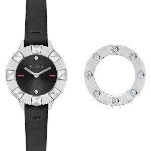 Furla 클럽 석 영 다이아몬드 악센트 R4251116505 여자의 시계