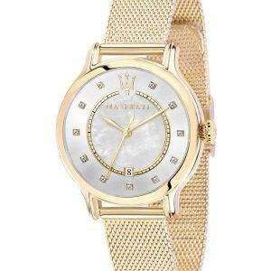 마 세라 티 Epoca 석 영 다이아몬드 악센트 R8853118502 여자의 시계