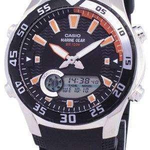 카시오 아날로그 디지털 해양 기어 AMW-710-1AVDF AMW-710-1AV 남자 시계
