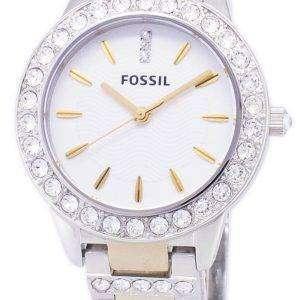 화석 제시 크리스탈 투톤 석영 ES2409 여성 시계
