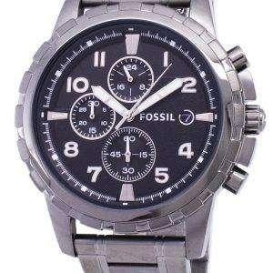 화석 딘 크로 노 그래프 연기 회색 이온 도금 FS4721 남자의 시계
