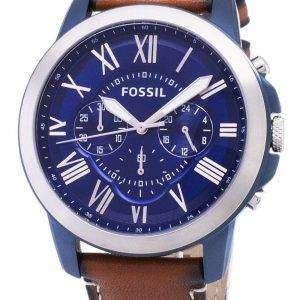 화석 부여 쿼 츠 크로 노 그래프 FS5151 남자의 시계