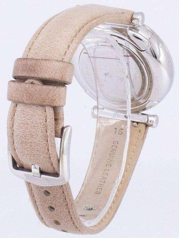 화석 Carlie 3-손 석 영 모래 다이아몬드 악센트 ES4343 여자의 시계