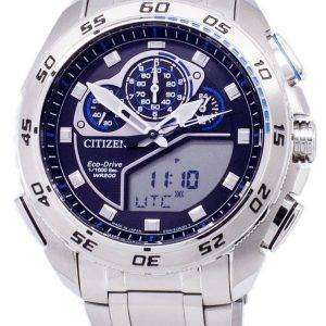 시민 Promaster 에코 드라이브 크로 노 그래프 200m 일본 만든 JW0121-51E 남자의 시계