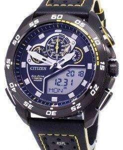 시민 Promaster 에코 드라이브 크로 노 그래프 200m 일본 만든 JW0127-04E 남자의 시계