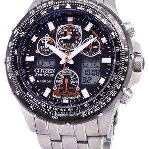 시민 Promaster 에코 드라이브 전원 예비 무선 제어 JY0030-52E 남자의 시계