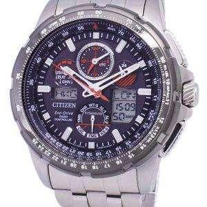 시민 Promaster 스카이 에코 드라이브 티타늄 JY8069 88E 남자의 시계